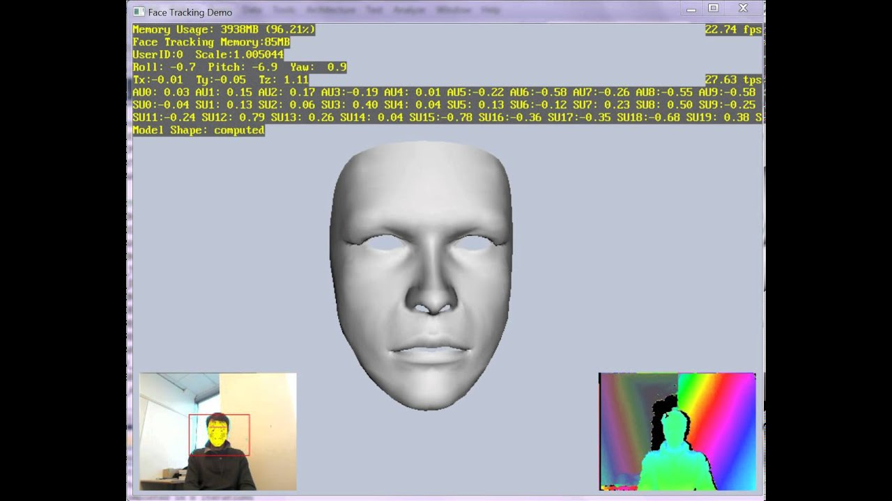 HD Face Tracking Demo 2012 (Tech Inside XBox One Kinect)