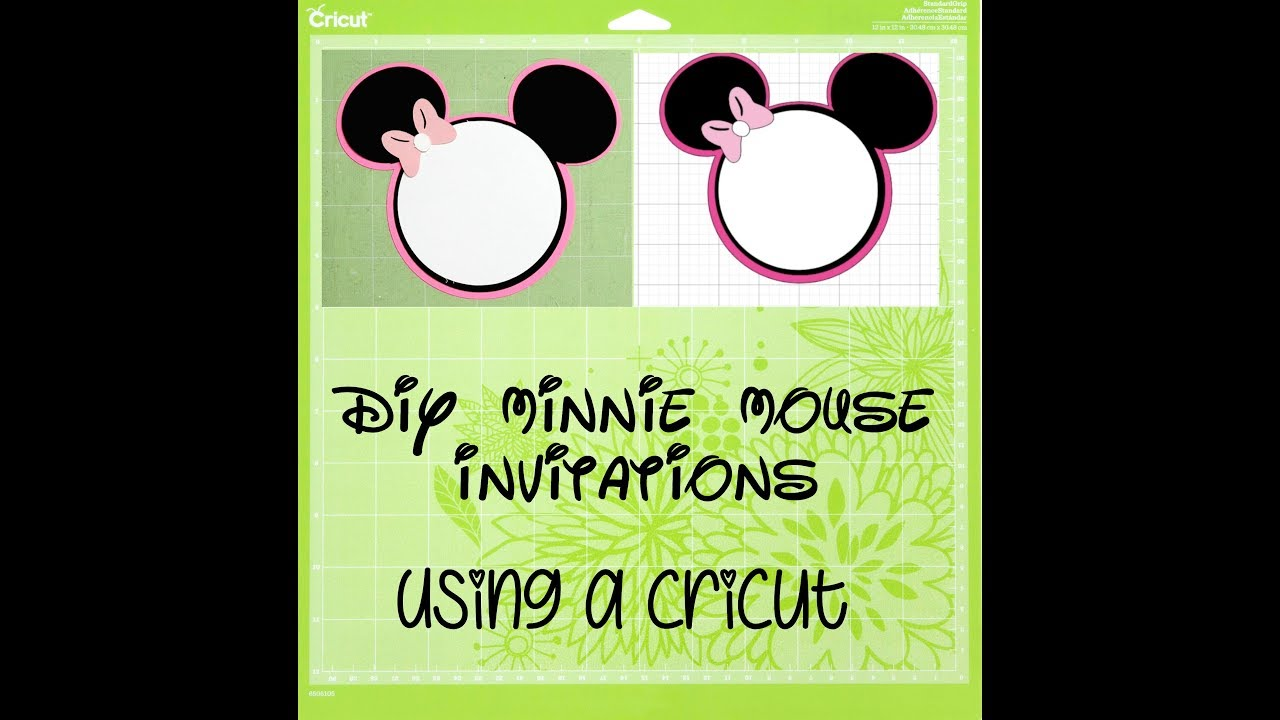 Cricut diy minnie mouse birthday invitations youtube cricut diy minnie mouse birthday invitations solutioingenieria Images