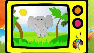Как нарисовать слона. Оживающие рисунки / How to draw an elefant. Наше всё!(А давайте нарисуем слона! Он гуляет по Африке и качает головой))) Смотрите