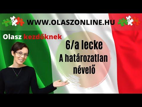 2e2c55f07 Olasz Online - 6/a lecke: A határozatlan névelő (un, un', una, uno)