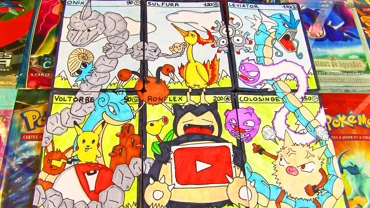 un tableau fait en carte pokemon carte pok mon faite main 7 youtube. Black Bedroom Furniture Sets. Home Design Ideas