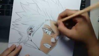 Speed Drawing - Hitsugaya Toushirou (Bleach)