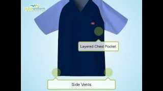 Dickies Scrubs - 816107 Everyday V-Neck Raglan Scrub Top for Men