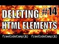Delete HTML Elements - Free Code Camp - #14