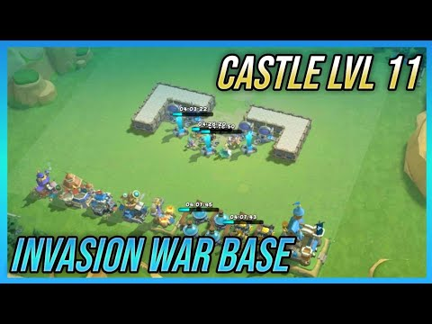 Castle Lvl 11 Invasion War Base | Best Defense Strategy | Castle Clash : New Dawn (Layout)