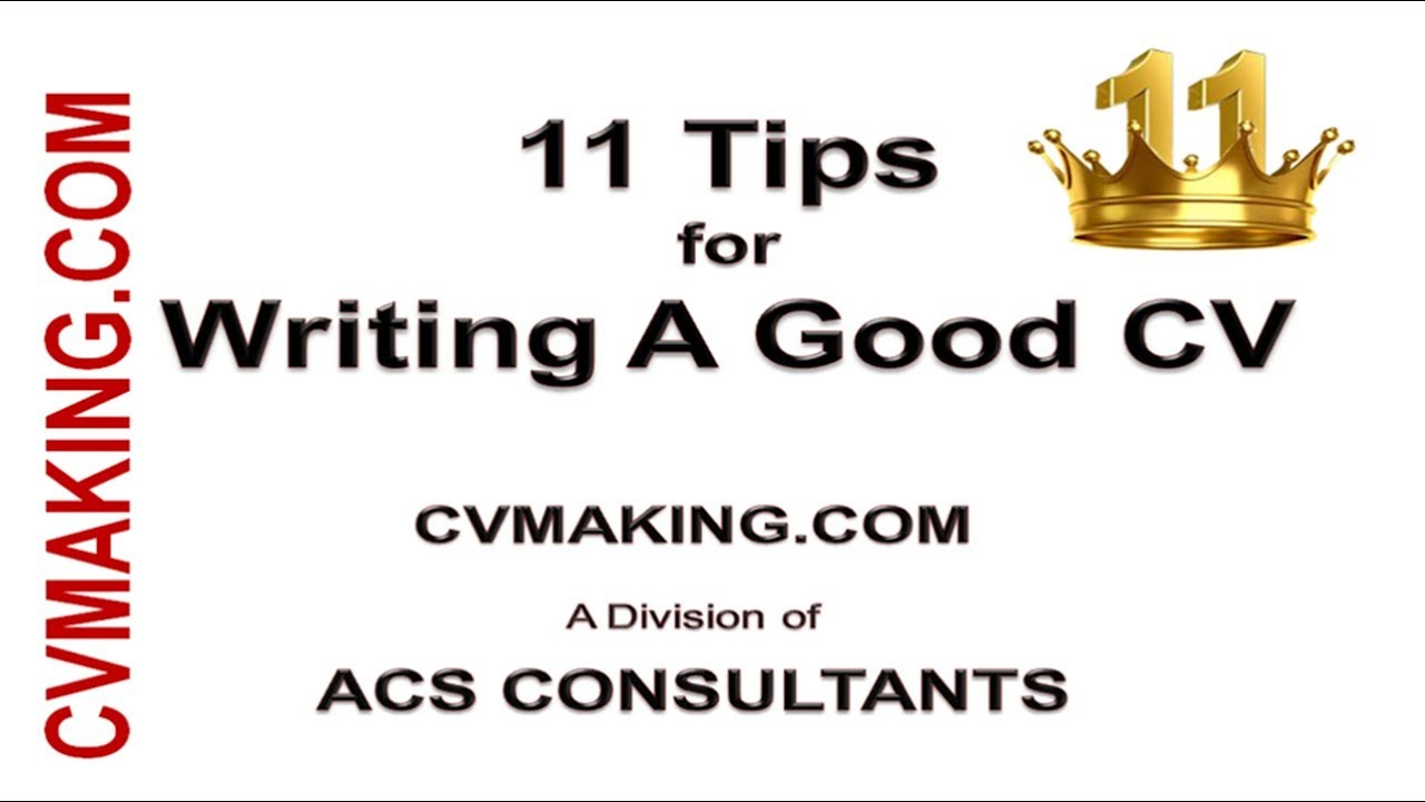 11 Tips For Effective Cv Writing For Success In Getting Job Youtube