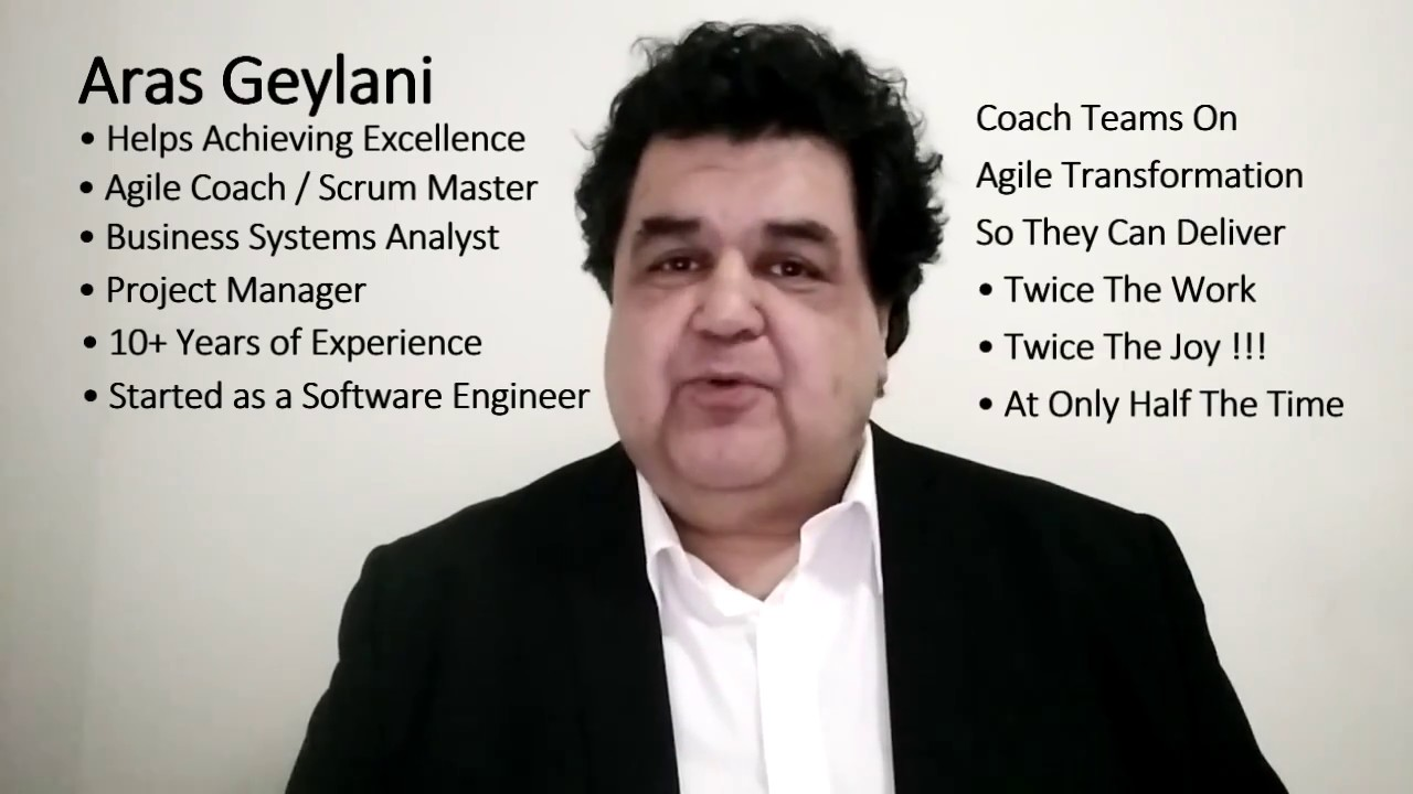 aras geylani agile coach scrum master video resume cv youtube