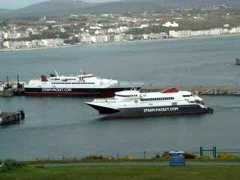 Snaefell Enters Douglas Harbour
