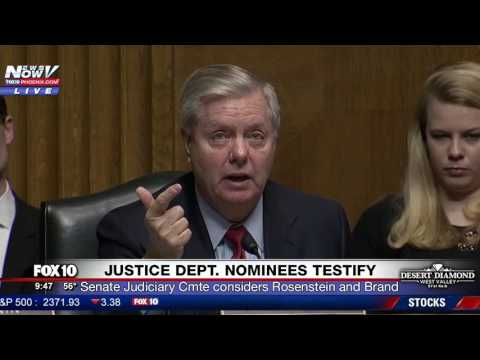 WOW: Lindsay Graham Challenges Deputy AG Nominee Rosenstein About Trump's Obama Wiretap Tweets (FNN)