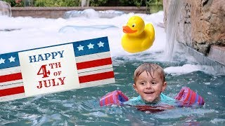 BIGGEST BUBBLE POOL PARTY! (🇺🇸4th of July Special 🎆)