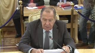 С.Лавров на заседании Совета глав субъектов Российской Федерации при МИД России