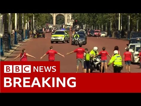 Protesters seek to block Mr Johnson's route  - BBC News Mp3