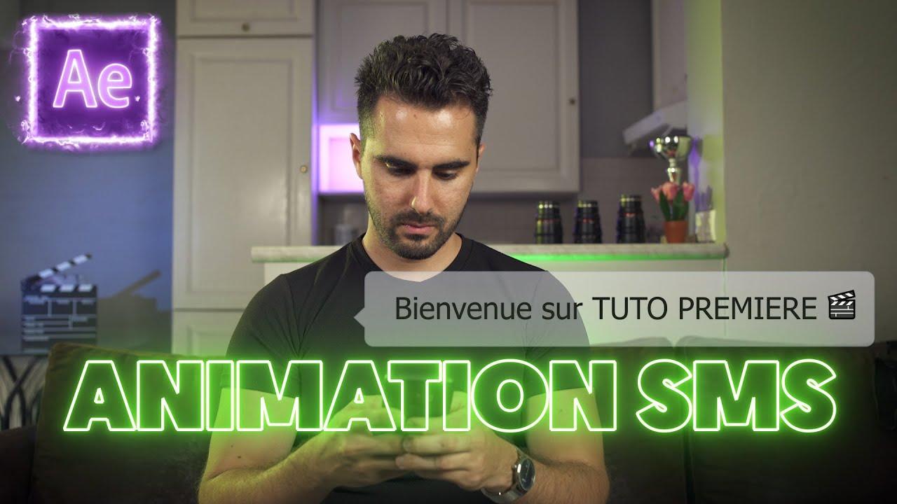 Créer un EFFET d'ANIMATION SMS sur AFTER EFFECTS (conversation SMS)