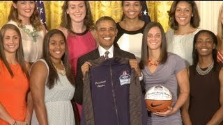 President Obama Honors the UConn Huskies - 2013 Women