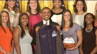 President Obama Honors the UConn Huskies - 2013 Women