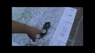 Navigation with lensatic compass and map 1