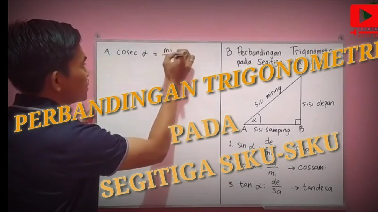 13/04/2021· contoh soal trigonometri   matematika kelas 10 1 min read reading time: Nilai Perbandingan Trigonometri Pada Segitiga Siku Siku Contoh Soal Trigonometri Kelas 10 Youtube