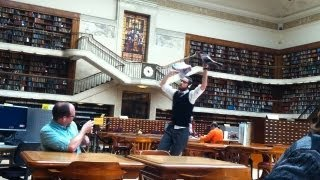 The Dancing Accountant does The State Library