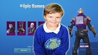 Gifting *6 Year Old Kid* NEW 'DARK REFLECTIONS PACK' & 10,000 Fortnite V-Bucks!!