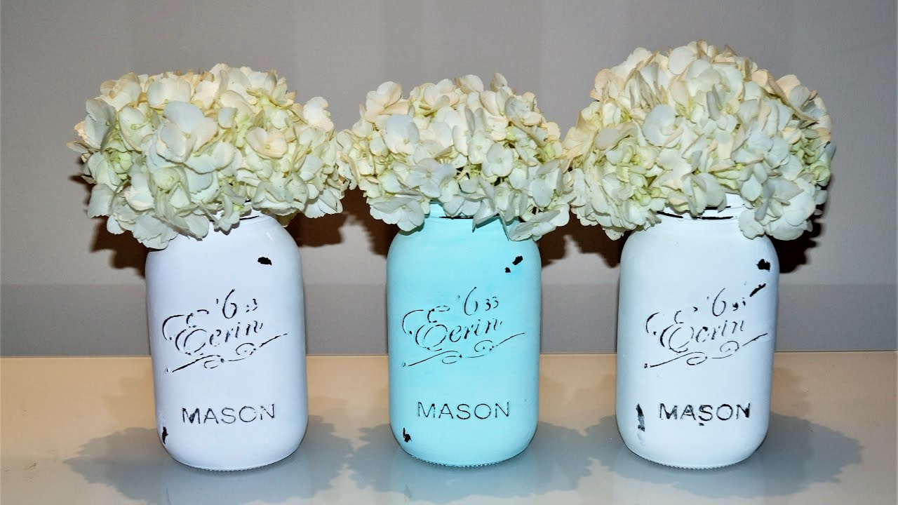 Diy Wedding Decoration Tutorial How To Make A Mason Jar Centerpiece Sugarella Sweets Party Youtube