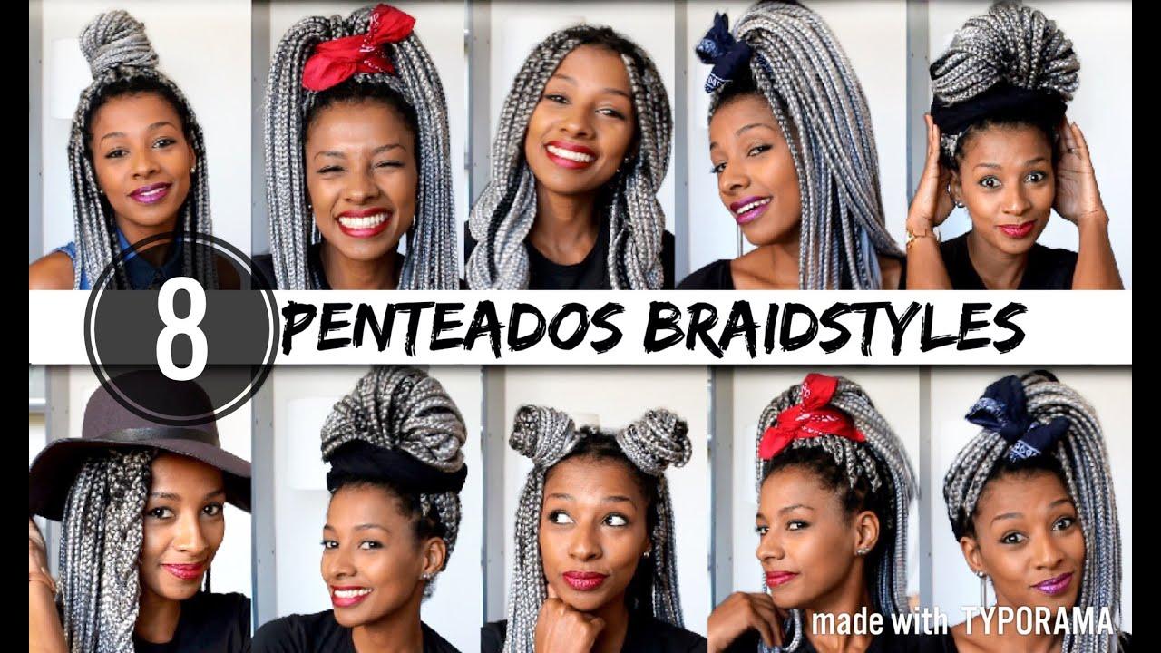 Penteados Para Tranças Box Braids Braidstyles Michele Passa