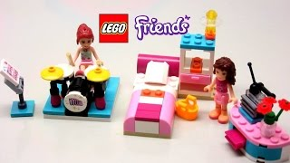 Lego Friends Mia Drum Set, Pretty Bed Room & Nice Stereo Set - Kiddie Toys
