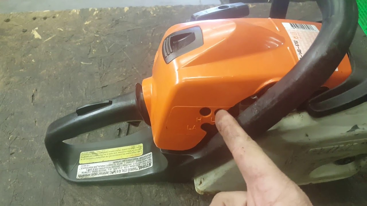 Stihl Chainsaw Carburetor Adjustment