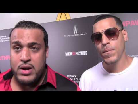 Lenny Santos & Max Agende of Aventura & Vena Talk Monster Headphone Partnership