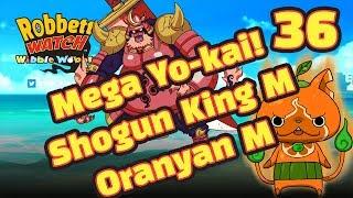 Yo-kai Watch Wibble Wobble #36: Mega Yo-kai! Orange Beach Resort Event! Oranyan M! Shogun King M!