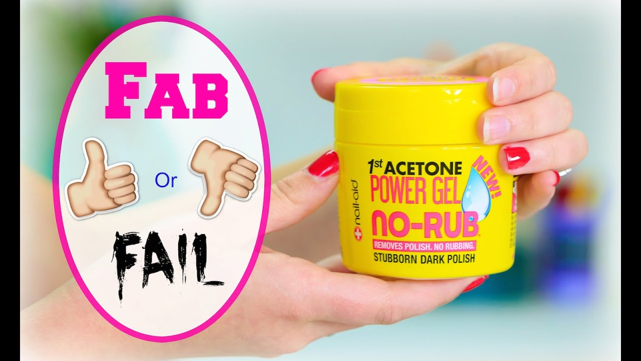 Nail-Aid NO-RUB Polish Remover Gel | Fab or Fail - YouTube