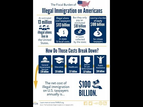 October 5, 2017 ILLEGAL IMMIGRATION COSTS TO STATE AND GOVERNMENT WOW !!!