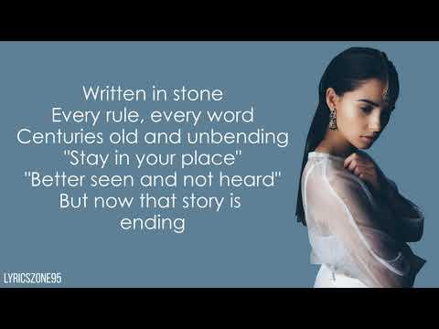 """Naomi Scott - Speechless (Lyrics) (From """"Aladdin"""")"""
