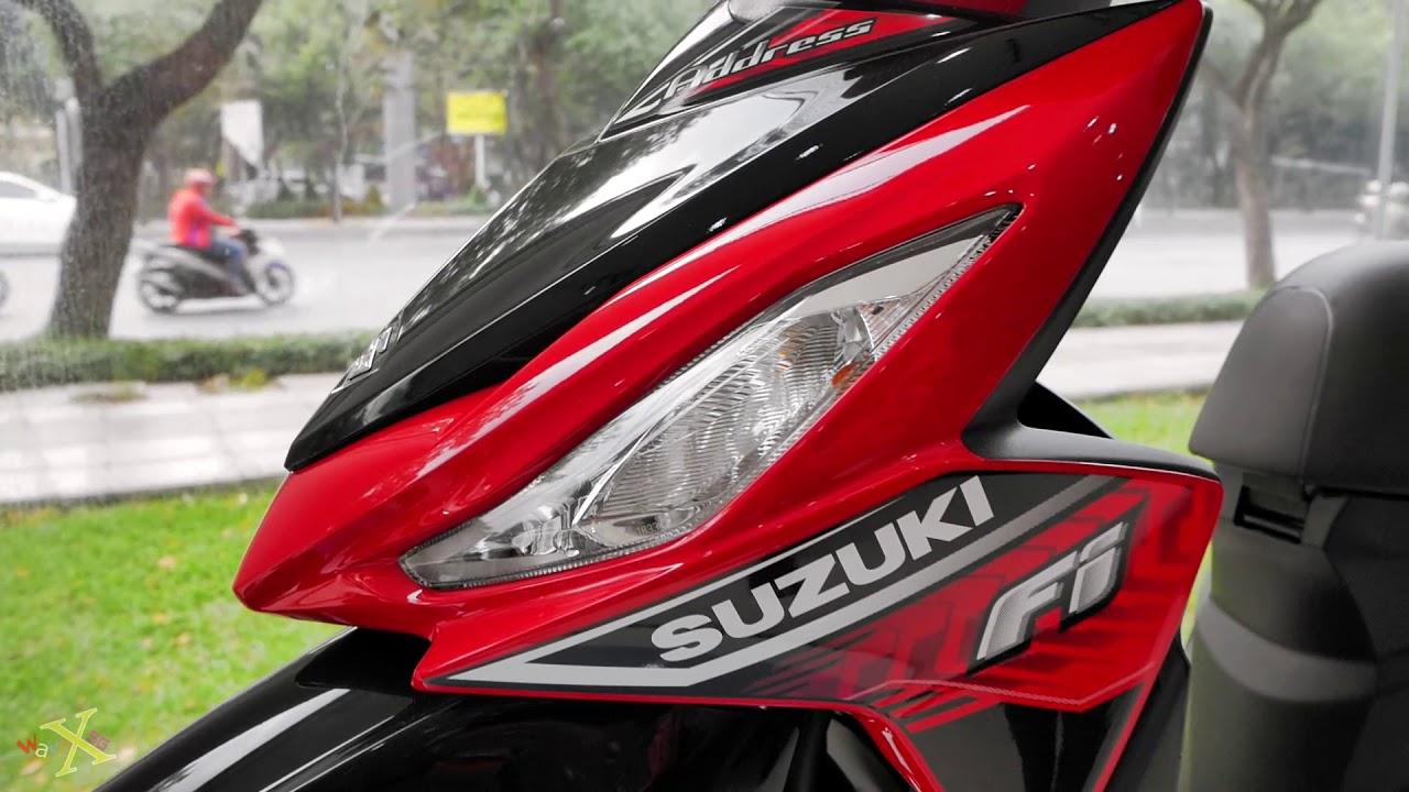 Suzuki Address 110i 2016 – Đỏ Đen – Walkaround