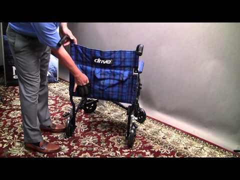 Drive Medical Lightweight Fly-Lite Transport Chair     Wheelchair