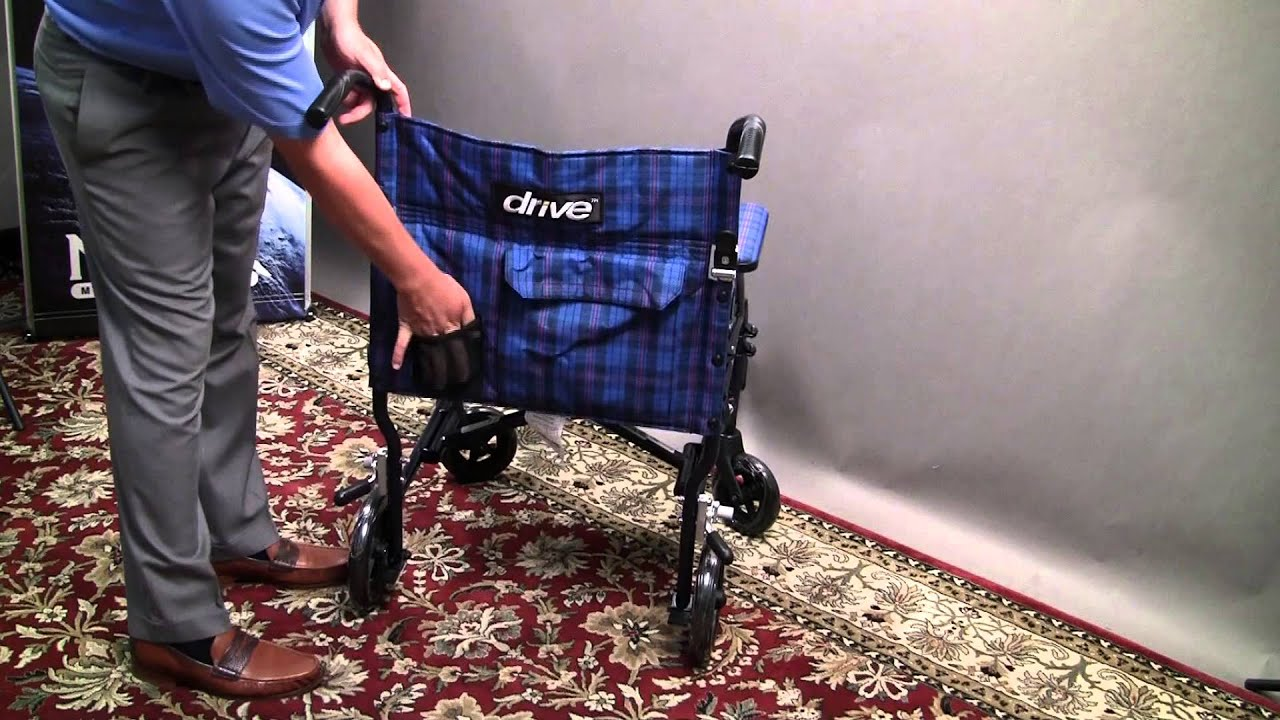 Drive Medical Lightweight Fly Lite Transport Chair