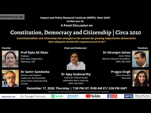 Panel Discussion on Citizenship, Democracy and Constitution | Circa 2020