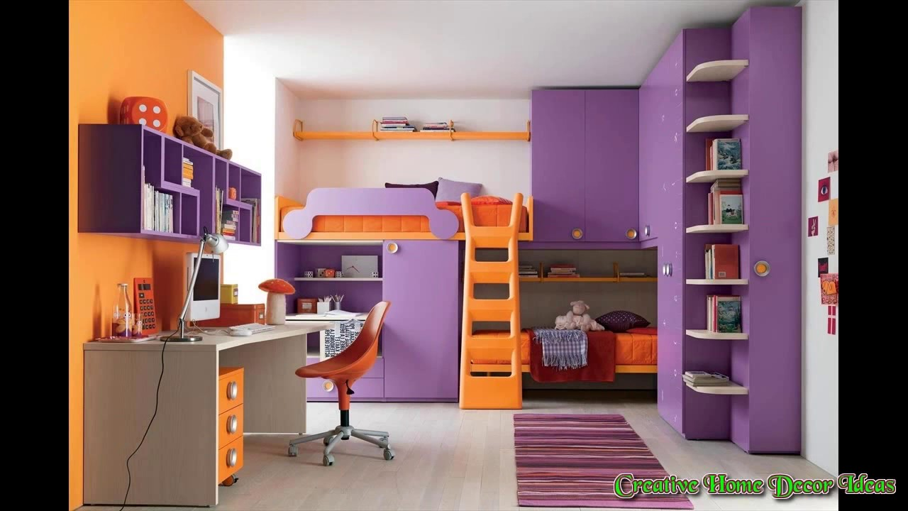 orange and purple bedroom youtube