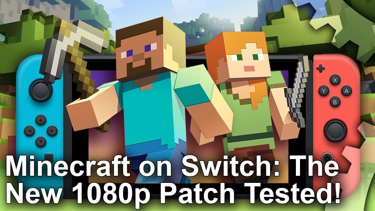 Minecraft Switch Edition Boosted to 8p! Patch 8.8 Graphics Comparison +  Frame-Rate Test