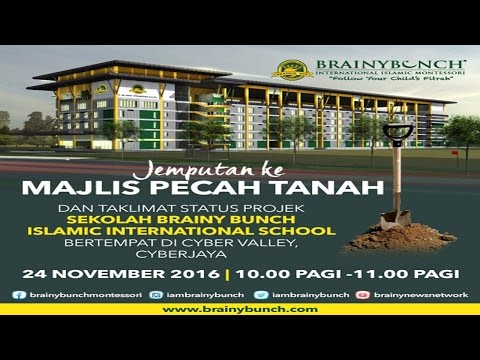 Ground Breaking ceremony for Brainy Bunch International School & Raudhah City Project