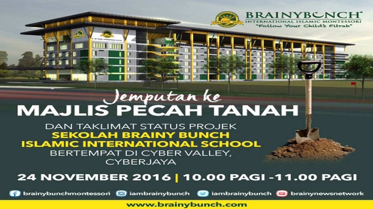 Ground Breaking Ceremony For Brainy Bunch International School