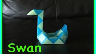 Smiggle Snake Puzzle Or Rubik's Twist Tutorial: How To Make A Swan - Step By Step