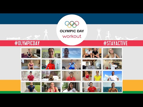 Giant Workout with Olympic Athletes from all over the World! | #OlympicDay 2020