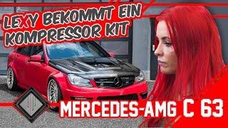 Lexy Roxx's Mercedes C63 AMG bekommt ein Kompressor Kit   mcchip-dkr