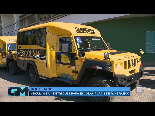 Mobilidade: Veículos são entregues para escolas rurais de rio branco