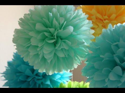 Diy c mo hacer pompones decorativos youtube - Como hacer pompones ...