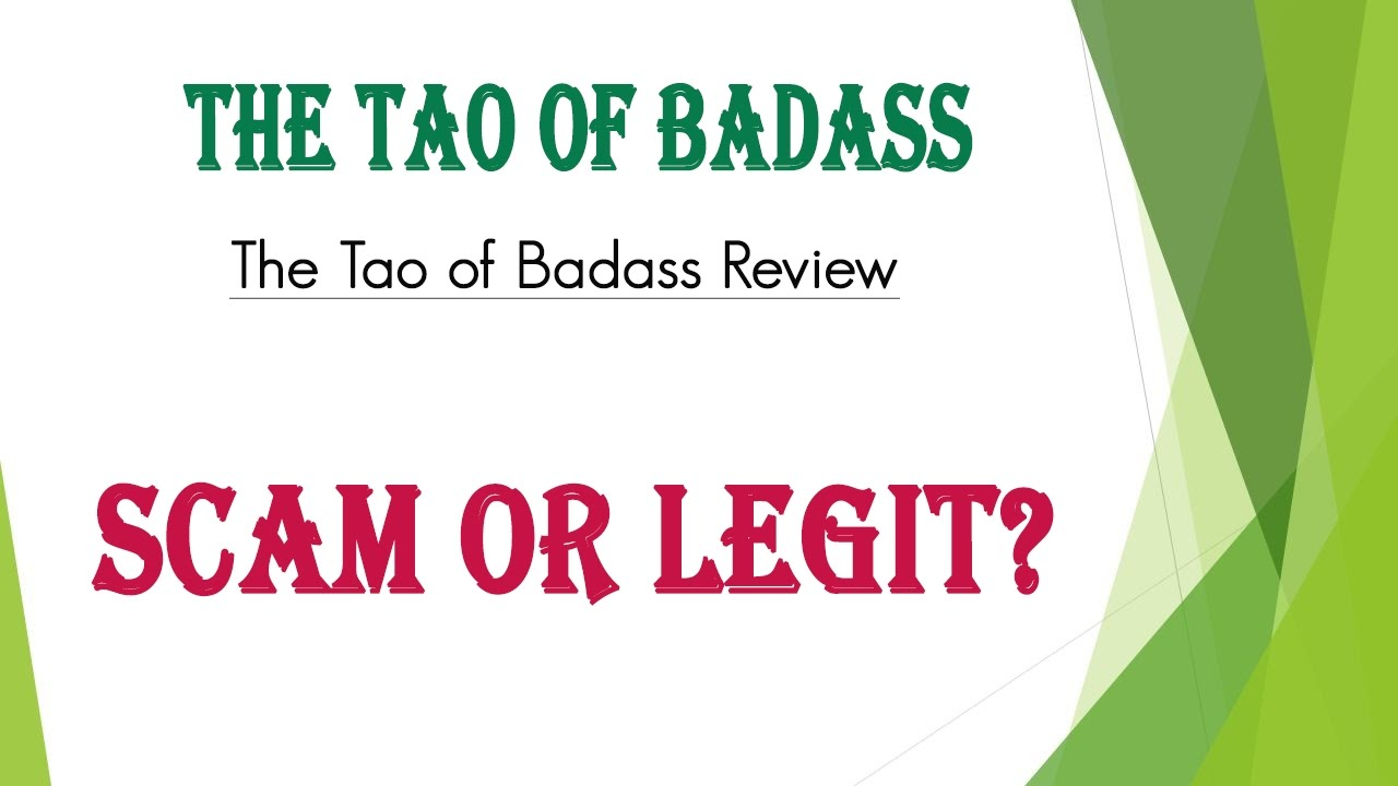 tao of badass scam