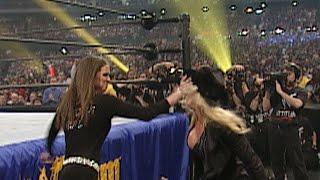 Stephanie McMahon slaps Trish Stratus: WrestleMania X-Seven