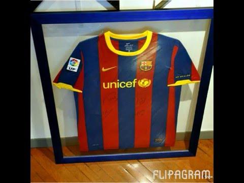 TOTART Marcos para camisetas del Barça .Cuadros a medida doble ...