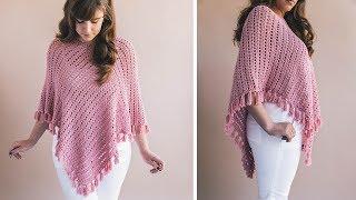 Crochet Ava Fringed Poncho