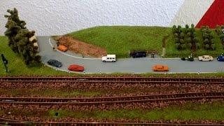 Modellbahn Spur N / 1:160 -  Teil 8 - Gestalten Strasse und Weinberg - Modelleisenbahn